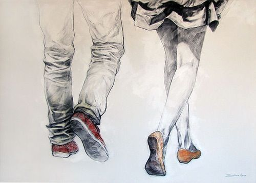 Guy And Girl Walking Together Drawing Artsy Fartsy Pinterest