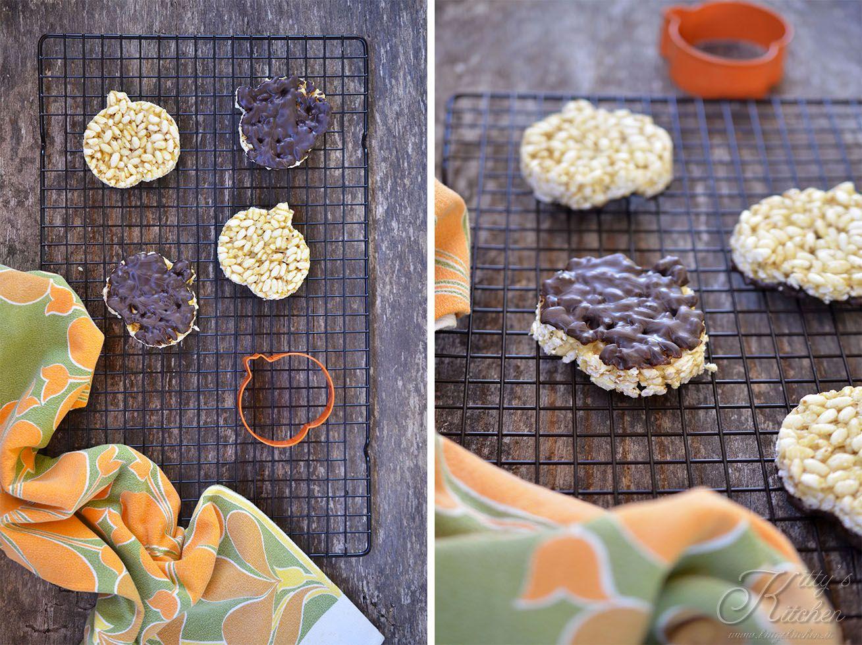 Dolcetti Bambini ~ Zucche di riso soffiato e cioccolato dolcetti americani