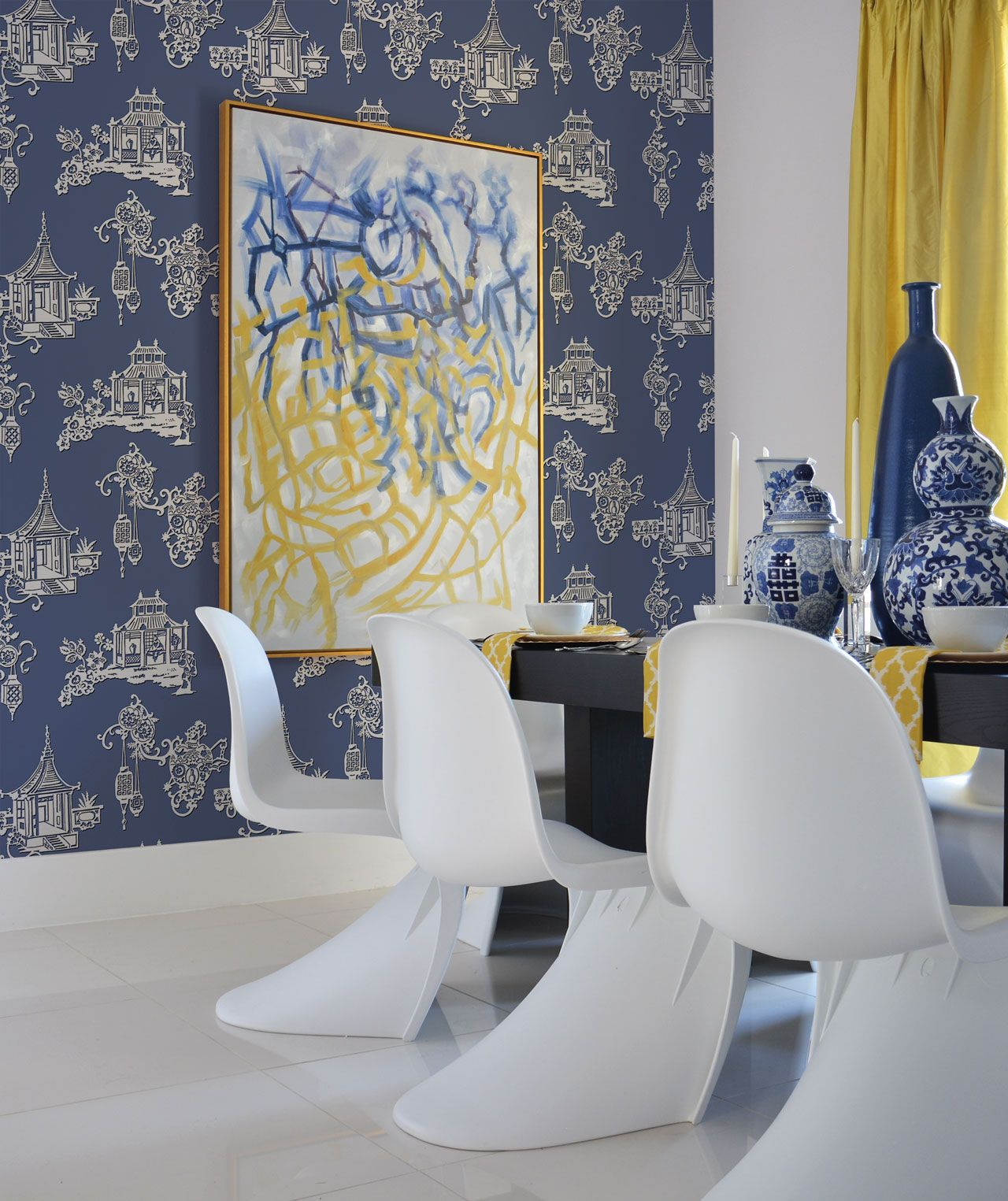 Blendworth Fabrics and Wallcoverings - SketchTwenty3 wallpaper from the Pagoda collection.