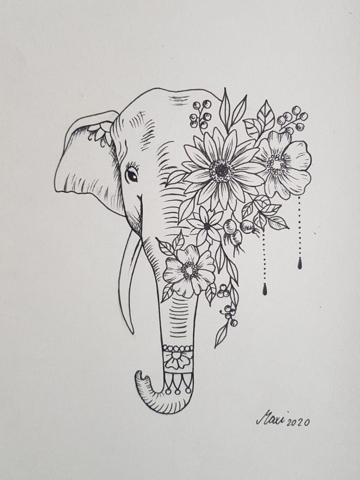 Photo of Feminine Elephant tattoo idea