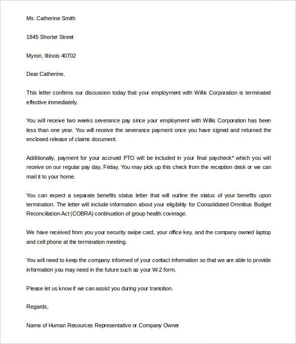 free termination letter template 39 free sle exle News to Go 2