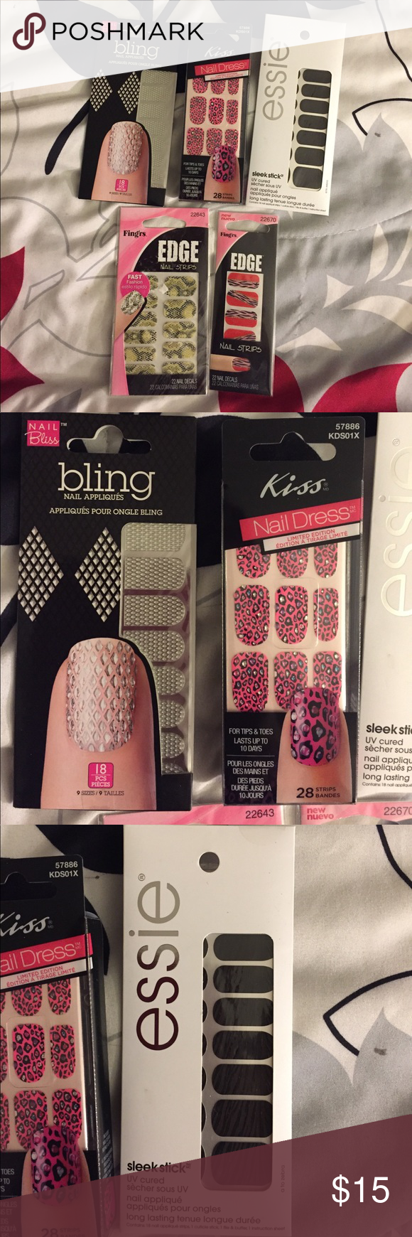 5 Nail Polish Strips/Essie/kiss/Nail Bliss/Fingrs | Nail polish ...