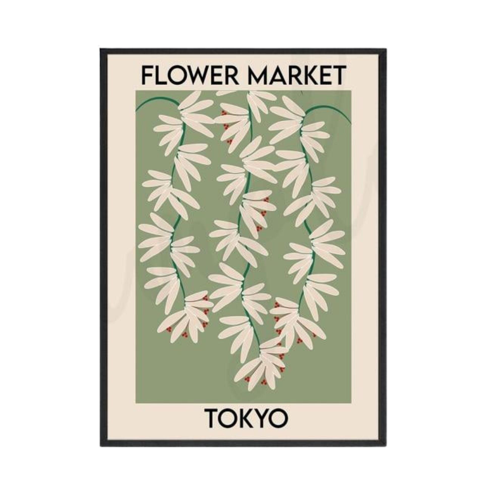 Photo of Tokyo Flower Market Wall Art – 30×42 cm (12×17 in)