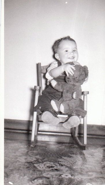 A Boy and His Teddy 1940s Vintage Photograph by EphemeraObscura
