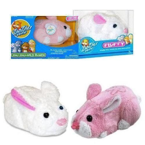 Zhu Zhu Pets Exclusive Bunny Fluffy Sweetie Set Of 2 By Cepia 24 85 Introducing Sweetie Fluffy Two New Pink White Zhu Z Pet Bunny Toys Toys Games
