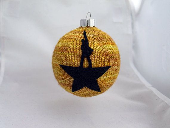 Hamilton Christmas Ornament.Knitting Kit Hamilton Inspired Christmas Ornament Via