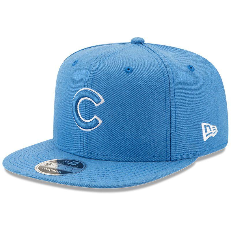 de1699b96 Chicago Cubs New Era League Basic Original Fit 9FIFTY Adjustable Snapback  Hat - Blue