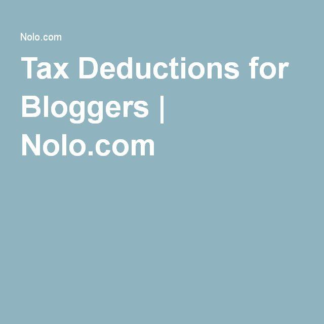 Tax Deductions for Bloggers   Nolo.com