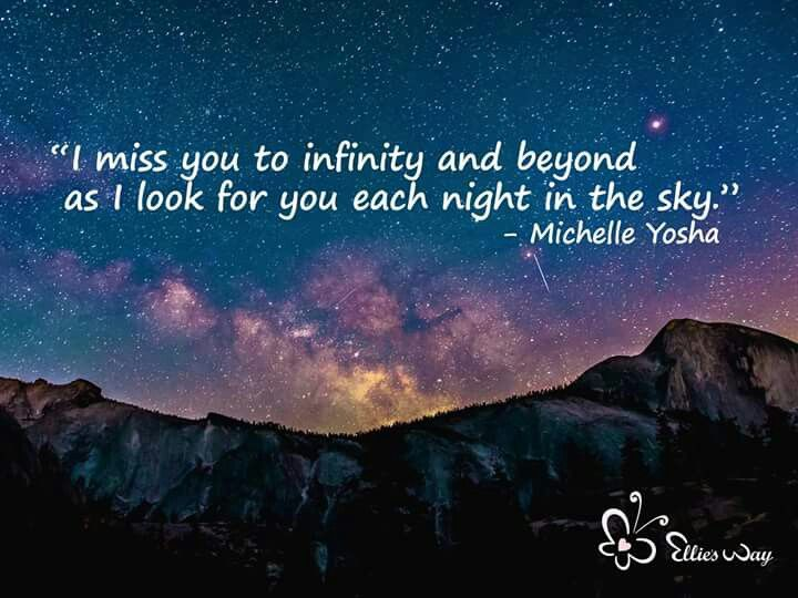 I miss you to infinity and beyond