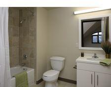 Munger Graduate Residence Bathroom Residences Lighted Bathroom Mirror