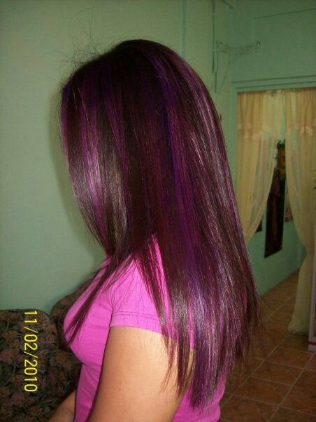 Purple/pink highlights want to do this again