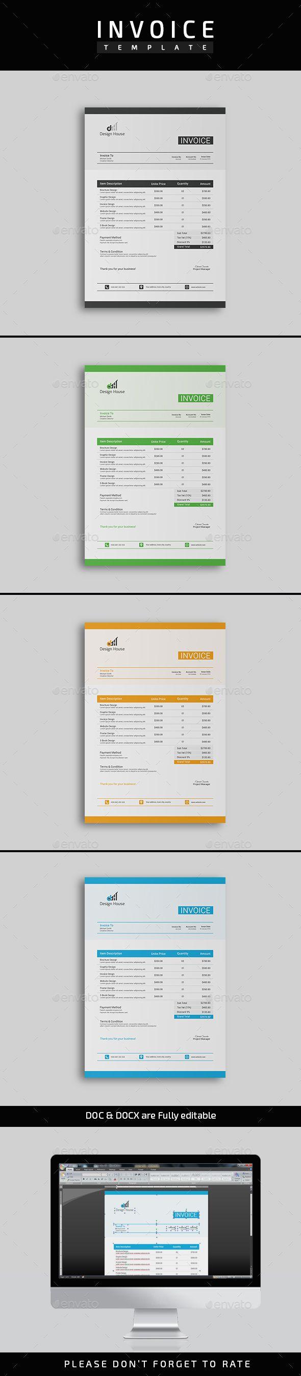 Invoice Template PSD DOCX DOC