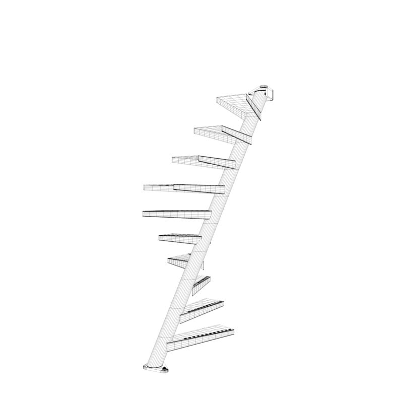 Best 3D Model Of Real Floating Spiral Staircase Con Imágenes 640 x 480