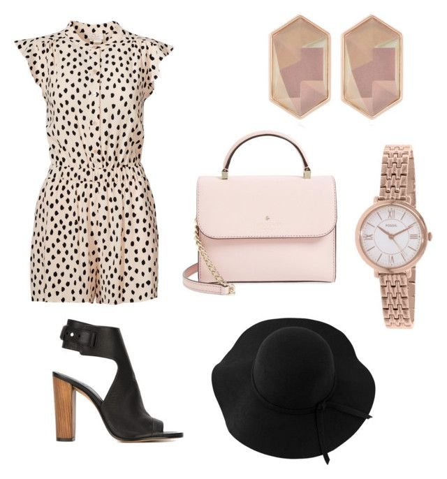 """Untitled #8"" by hannahehuff on Polyvore featuring Kate Spade, Vince, Nocturne, FOSSIL, Sans Souci, women's clothing, women, female, woman and misses"