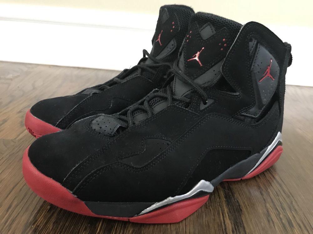 the best attitude 90f6c f9b43 Air Jordan True Flight 342964-001 Men s Black Gym Red Met Silver Shoes Size  8  Jordan  BasketballShoes
