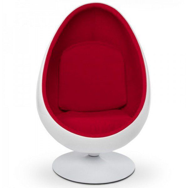Kugelsessel Ikea fauteuil pivotant oeuf egg chair coque blanche intérieur velours