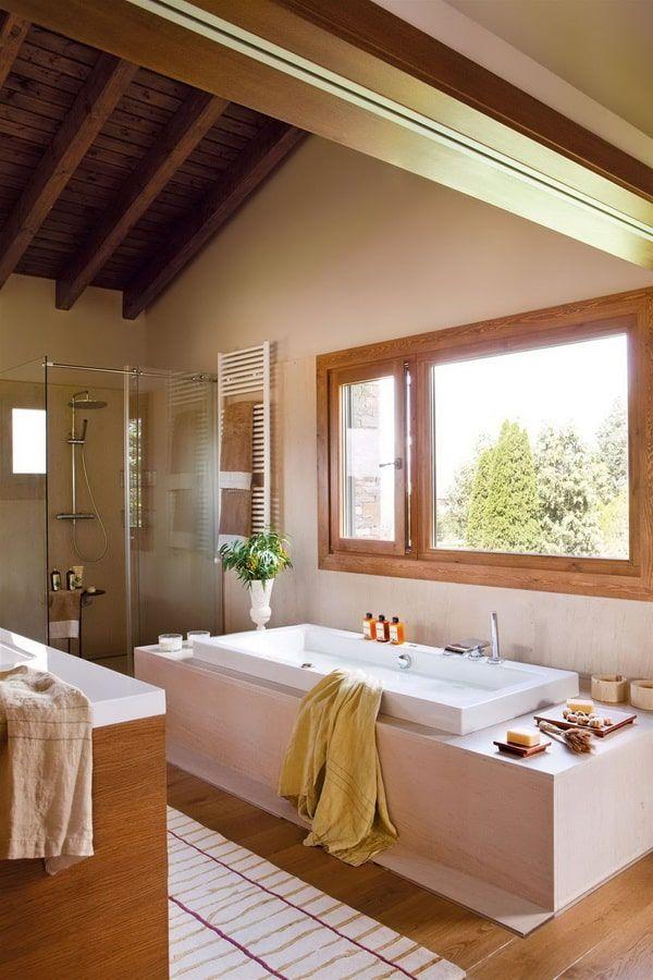 Cómo convertir el baño en un Spa   Ventanas para baño ...