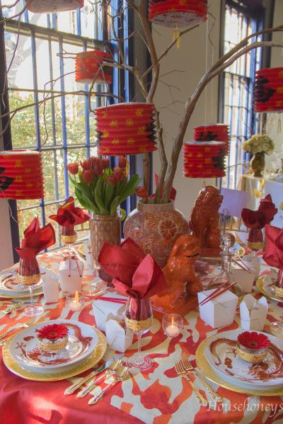 Set To Celebrate Table Settings Chinese Party Asian