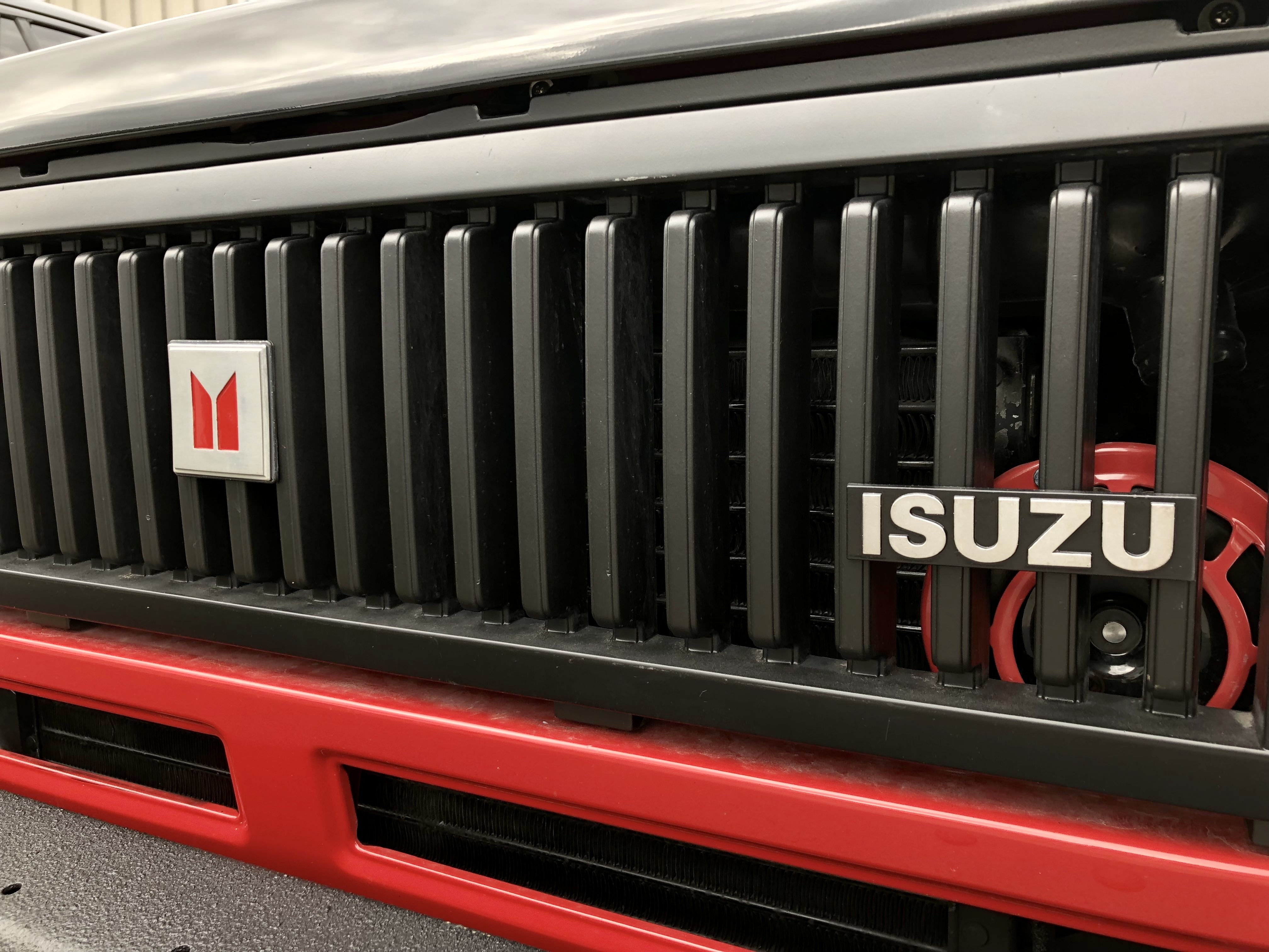 More Progress On My 1988 Isuzu Trooper Build The Badges Are On The Grill And Look Awesome T Rex Is Looking Better And Better Every Trooper Vehicles Car Radio