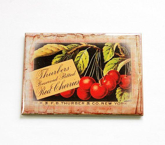 Food Magnet Fruit Magnet Cherry Kitchen magnet by KellysMagnets