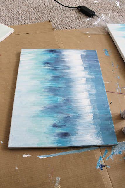 Diy Abstract Art How To Kreative Ideer Kreativitet Maleri Teknikker
