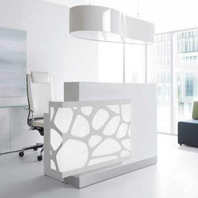 Oficina recepci n dise os con iluminaci n for Diseno de escritorios de oficina
