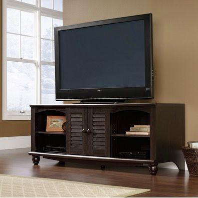62 Inch Antique Black Tv Stand Harbor View