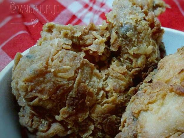 Resep Ayam Goreng Tepung Ayam Kfc Oleh Puji Pangestu Resep Makanan Ayam Goreng Resep Ayam