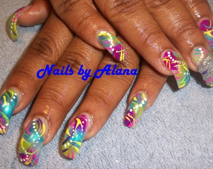 Contemporary Acrylic Curved Nails Ensign - Nail Art Design Ideas ...