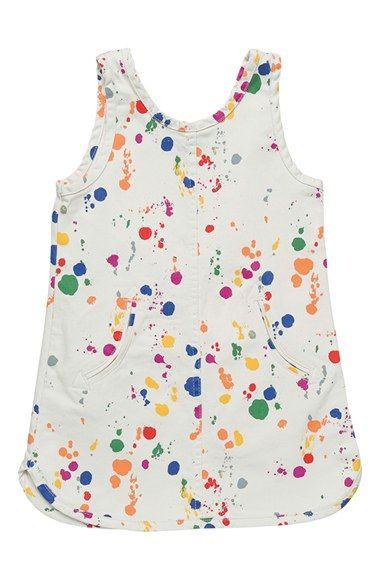 0507ebbb140 Stella McCartney Kids  Deborah  Paint Splatter Denim Tank Dress (Toddler  Girls
