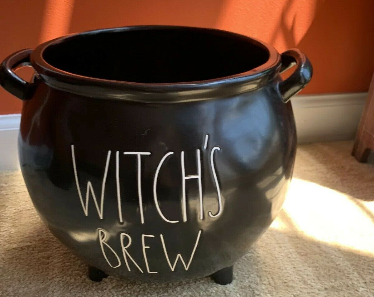 The Witches Brew Halloween 2020 Rae Dunn Large Witches Brew Cauldron & 2 Mug HOCUS POCUS, BOO