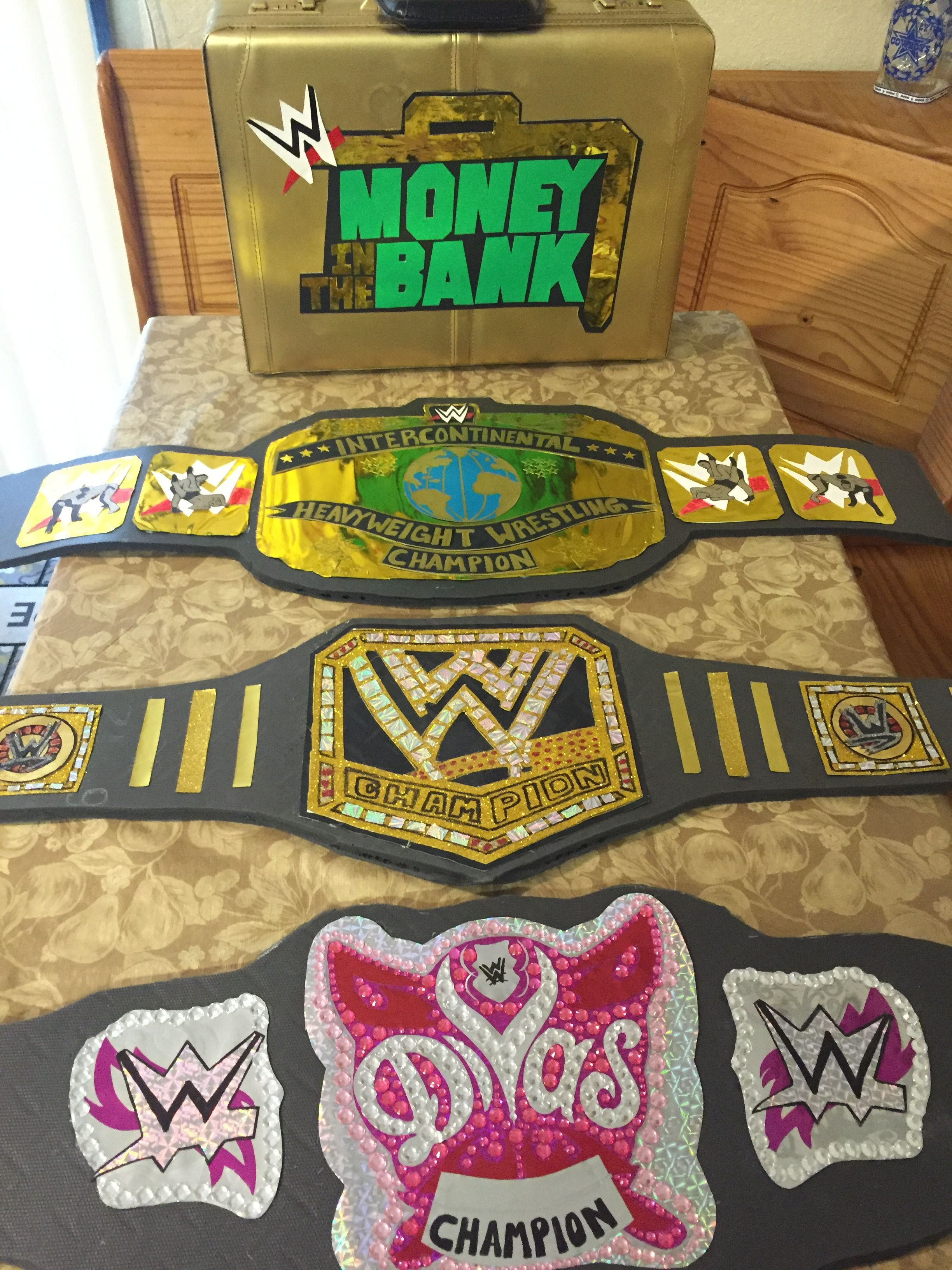 WWE Belts   Crafty Stuff   Pinterest   WWE, Ideas de fiesta y Cumple