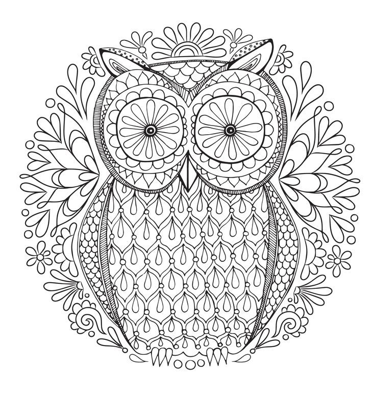 Relax With These Free, Printable Coloring Pages For Adults Owl Coloring  Pages, Abstract Coloring Pages, Mandala Coloring Pages