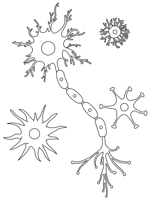 Brain Cells Coloring Page Coloring Pages Printable Coloring Free Printable Coloring