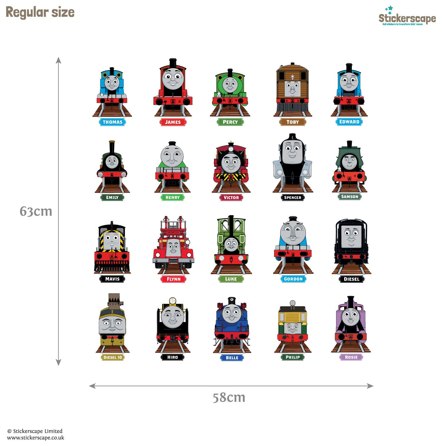 Thomas & Friends Collector\'s Edition wall stickers | Stickerscape ...