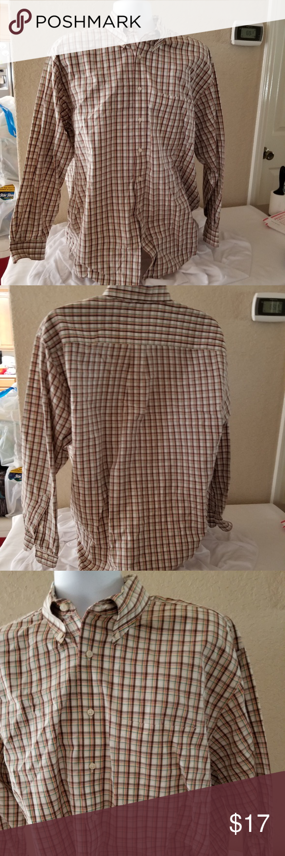 Jos A Bank plaid long sleeve shirt For your consideration