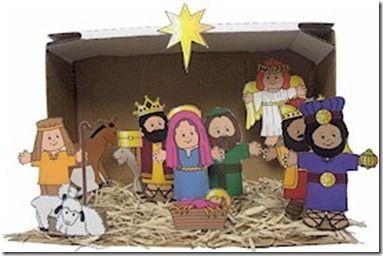 Nacimiento Para Imprimir En Color Divertidas De Navidad