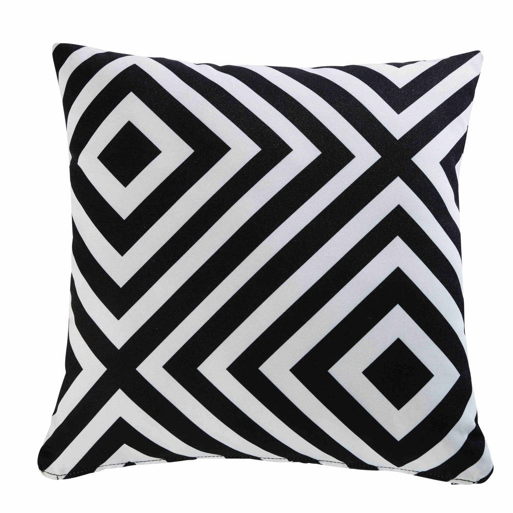 Cuscini Bianchi E Neri cuscino da giardino con motivi geometrici neri e bianchi