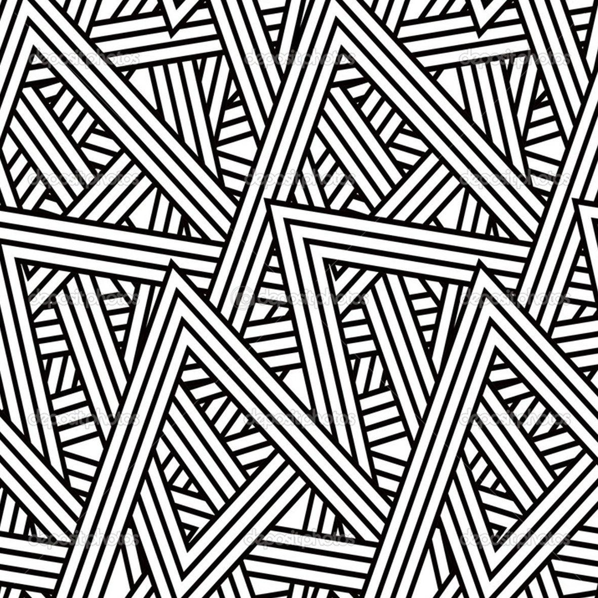 The Great Gatsby Art Deco Pattern Triangle Pattern Triangle Design