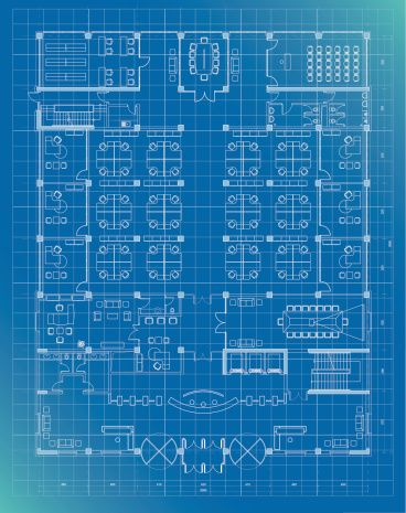 Office Building Plan Blueprint Entrance Floor Vector Art Getty