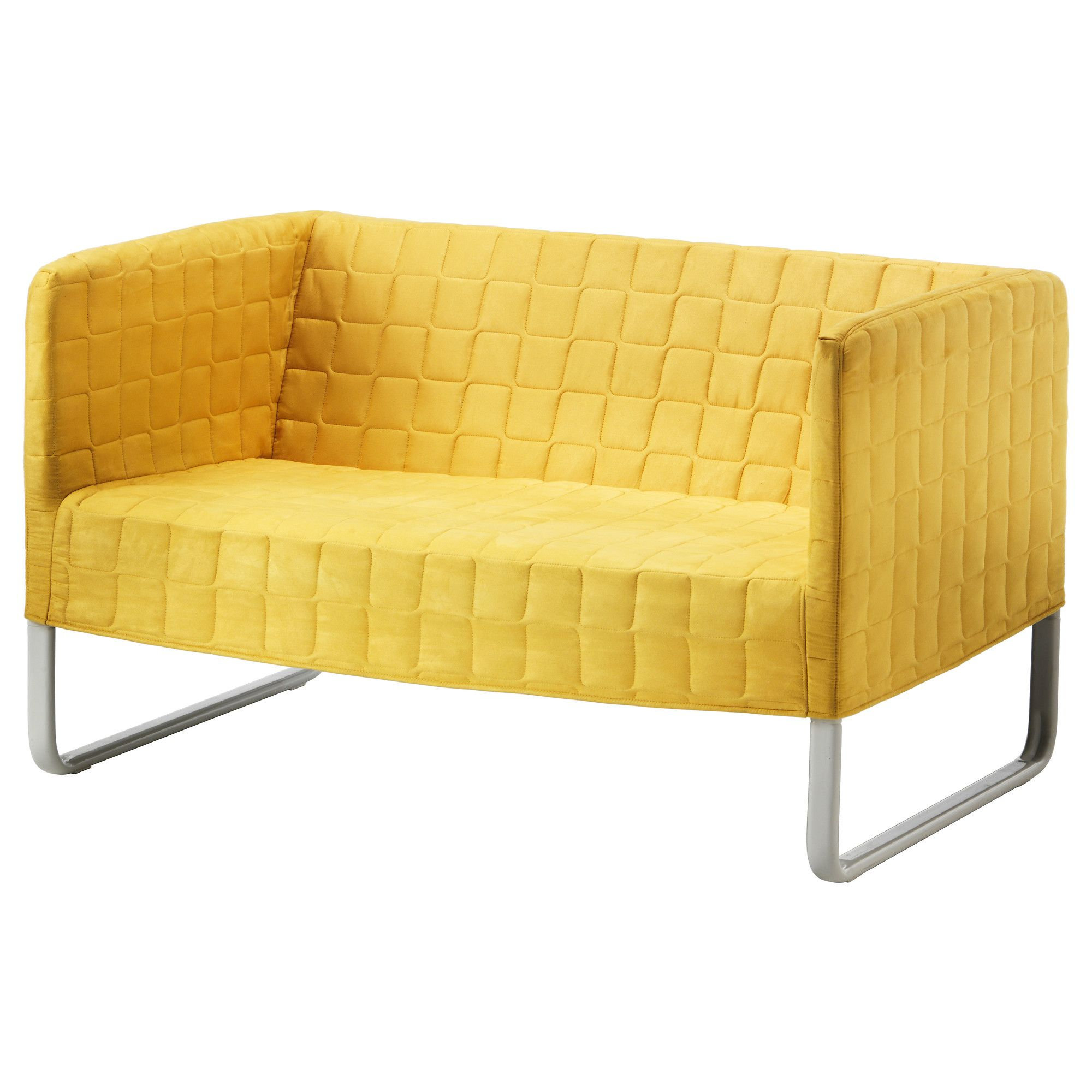 Knopparp Loveseat Bright Yellow Ikea Couch And Smart Packaging