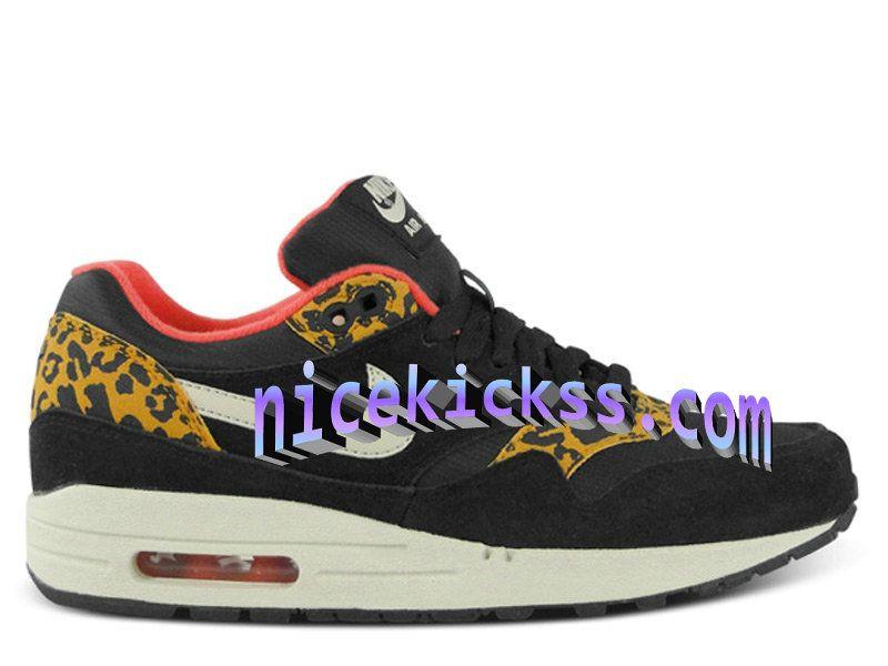 new concept 5ddd7 6f40b ... 35.625 Nike Air Max 1 87 Womens Leopard Black Sandtrap Dark Gold Leaf  Sunburst Pink 319986 ...
