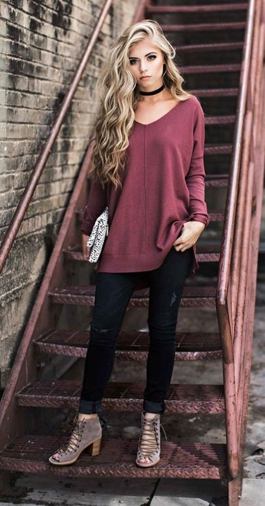 Black Velvet Choker Necklace at MyBodiArt.com - Trendy Comfy Fall Style Fashion Outfits 2016 for Work for School Sweaters