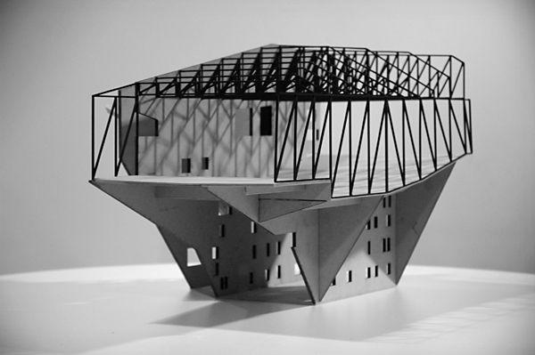 Structural model casa da m sica oma model pinterest for Da architecture