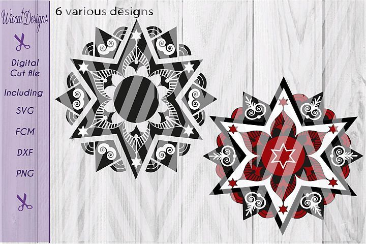 Download Christmas Star Svg Mandala Svg Mandala Star Svg Glass Block Svg Split Mandala Svg Monogram Svg From Designbundles Net Mandala Mandala Svg Monogram Svg