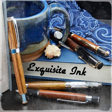 Exquisite Ink Pens: High Quality Handcrafted Pens made from wood, acrylic, stone, and metal.