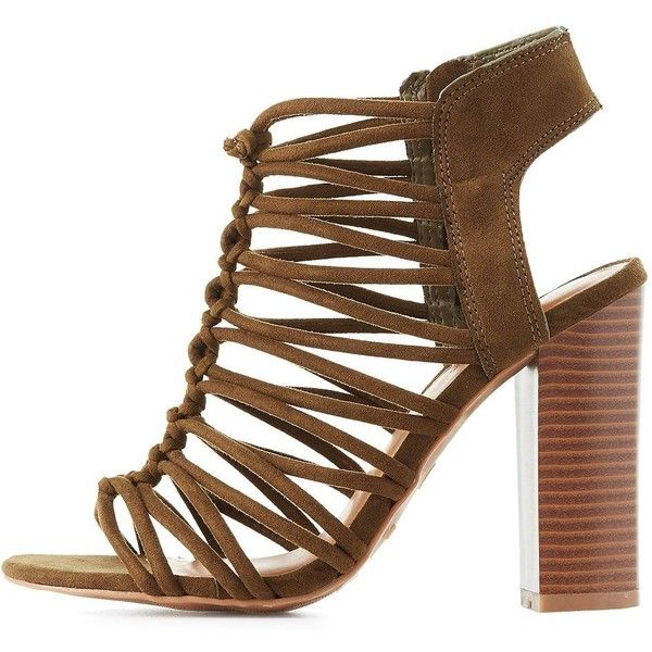 79282791ec8 Bamboo Knotted Strappy Sandals (135 SEK) ❤ liked on Polyvore featuring shoes