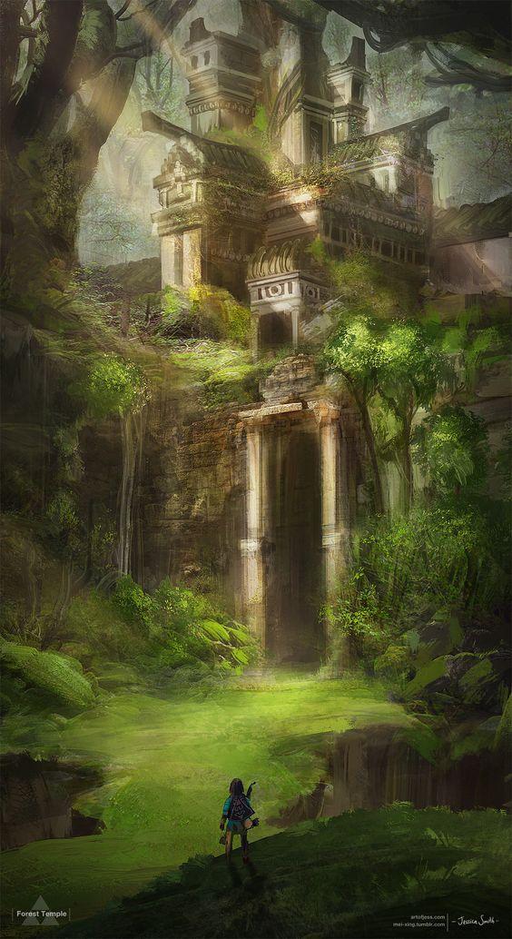 Zelda Ocarina Of Time Temple De L'eau : zelda, ocarina, temple, l'eau, Épinglé, Мадина, Джамалдаева, Ocarina, Paysage, Fantastique,, Imaginaire,, Video
