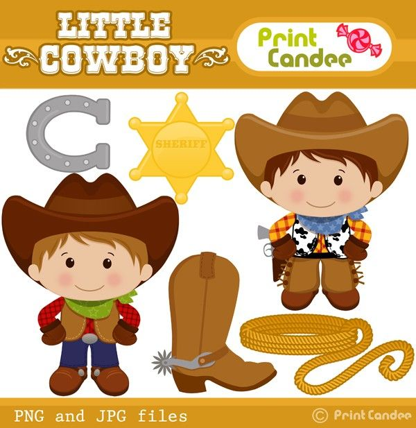 printcandee.com - Little Cowboy Clipart - clip art good for boy ...