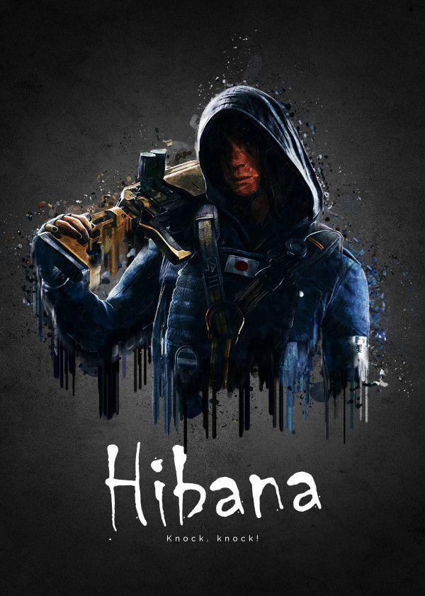 Rainbow Six Siege Characters Hibana Displate Artwork By